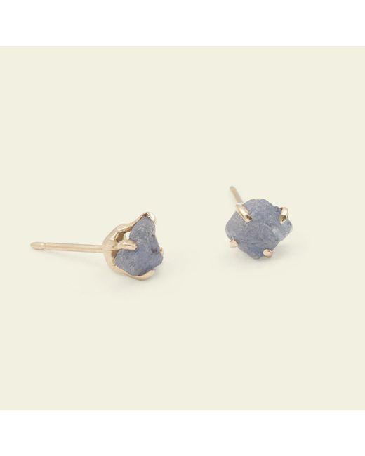 Erica Weiner | Blue Raw Sapphire Earrings | Lyst