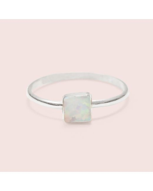 Erica Weiner - White Equilateral Opal Ring - Lyst