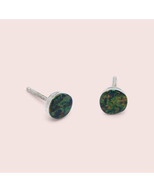 Erica Weiner - Metallic Circle Opal Earrings (black) - Lyst