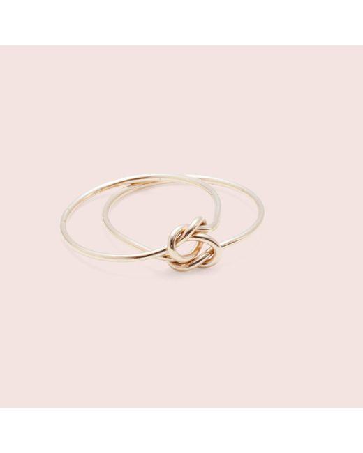 Erica Weiner | Metallic Lover's Knot Ring | Lyst