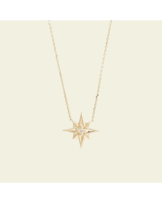 Erica Weiner - Multicolor Compass Rose Necklace (14k Yellow Gold) - Lyst