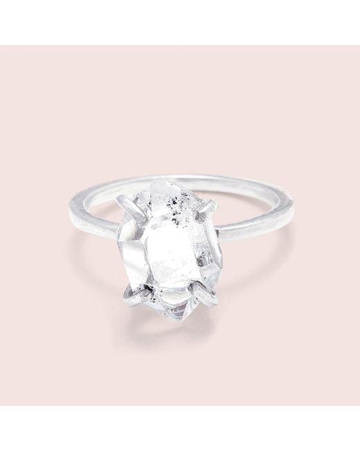 Erica Weiner - Metallic Herkimer Diamond Solitaire Ring (silver, Large) - Lyst