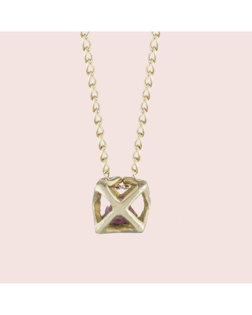 Erica Weiner - Metallic Caged Ruby Necklace - Lyst