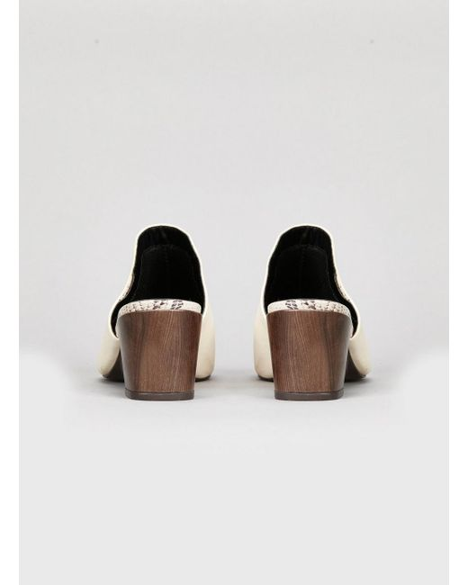 81739e4207193 ... Evans - Extra Wide Fit White Heel Mules - Lyst ...