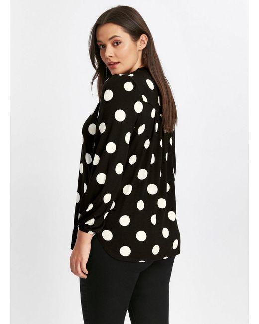 d764cd61623d4a Evans Black Spot Print Jersey Shirt in Black - Lyst