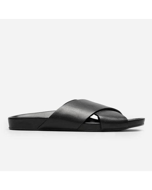 Everlane | Black The Form Crossover Sandal | Lyst