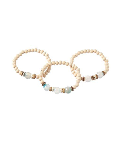 Cara | Blue Bone Bead Bracelet Set | Lyst