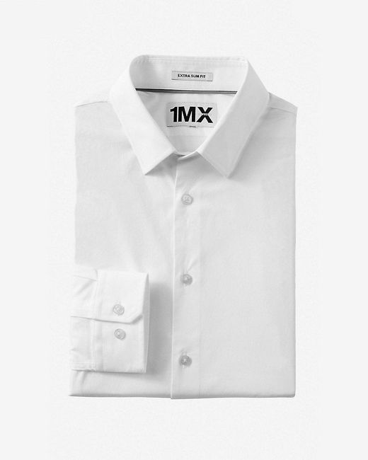 Express | White Slim Fit 1mx Shirt for Men | Lyst