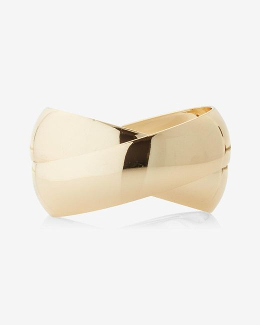 Express | Metallic Wide Roll Bangle | Lyst