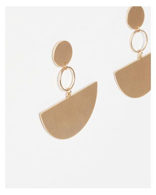 Express - Metallic Eometric Half Circle Drop Earrings - Lyst