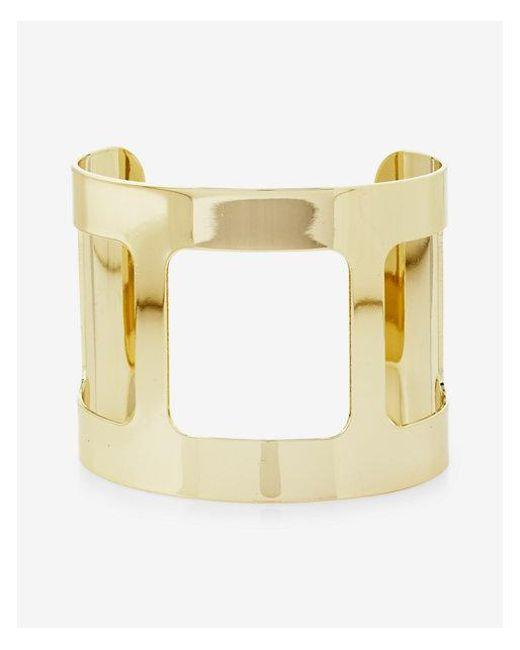 Express - Metallic Cut-out Geometric Cuff - Lyst