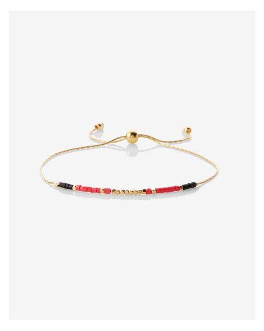 Express | Orange Mini Bead Metal Bracelet | Lyst