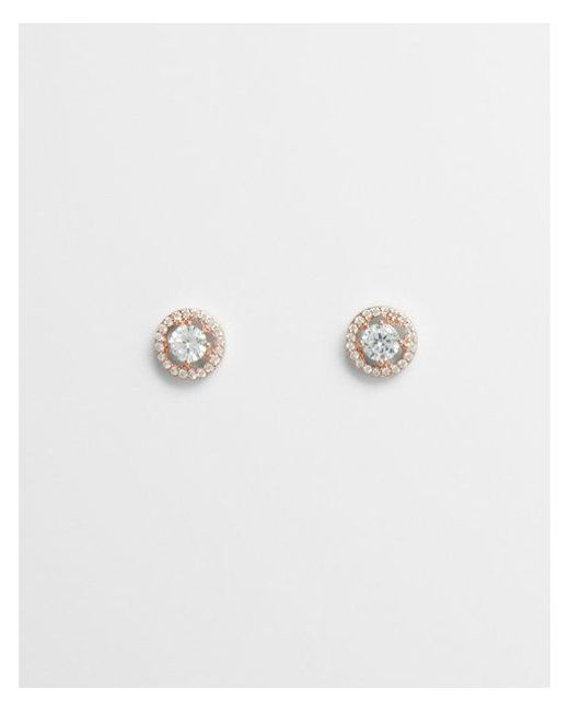 Express - Metallic Round Cut-out Post Back Earrings - Lyst