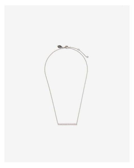 Express - Metallic Pave Skinny Bar Pendant Necklace - Lyst