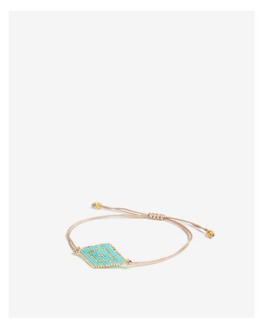 Express - Blue Turquoise Beaded Pull-cord Bracelet - Lyst