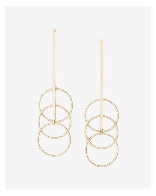 Express - Metallic Triple Circle Drop Earrings - Lyst