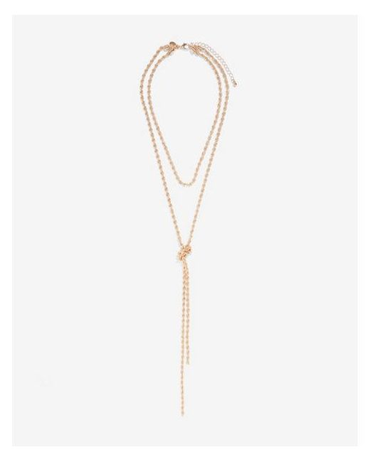 Express - Metallic Twisted Layered Status Necklace - Lyst