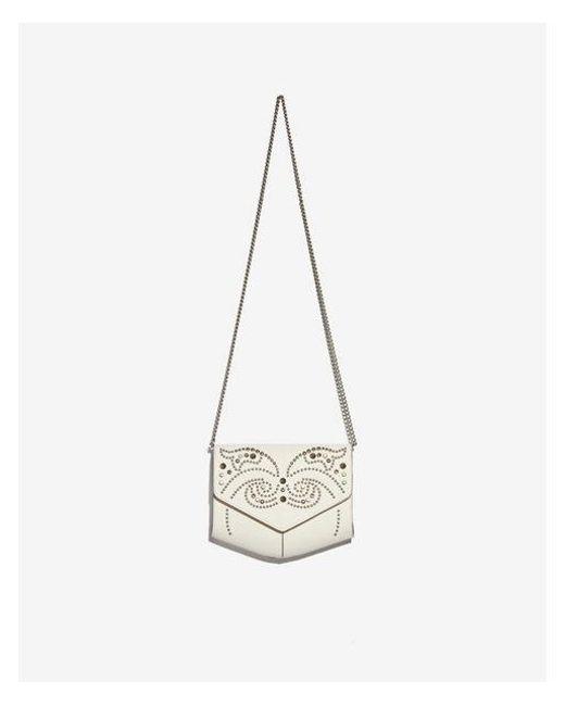Express - White Studded Crossbody Bag - Lyst