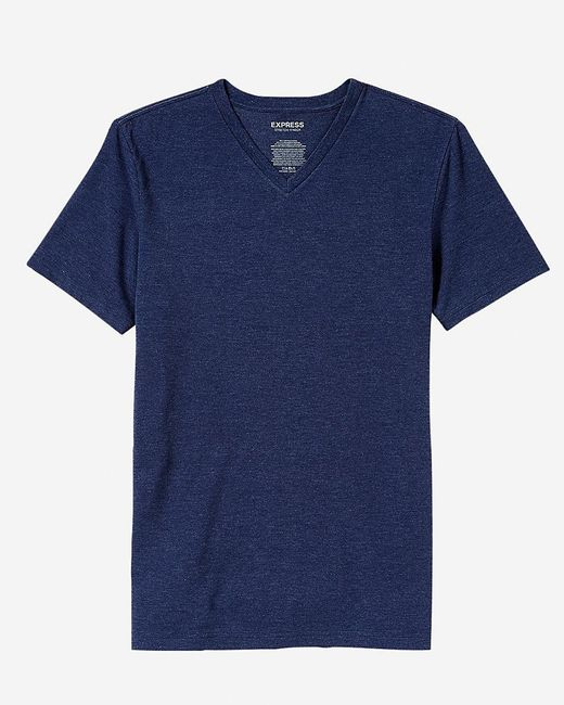 Express | Gray Flex Stretch Cotton V-neck Tee for Men | Lyst