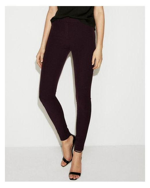 Express - Purple High Waisted Skinny Pant - Lyst