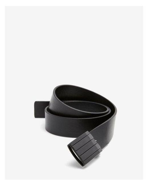 Express - Black Two-tone Matte Compression Belt for Men - Lyst