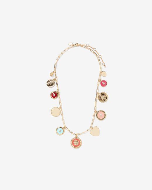 Express - Metallic Mixed Charm Necklace - Lyst