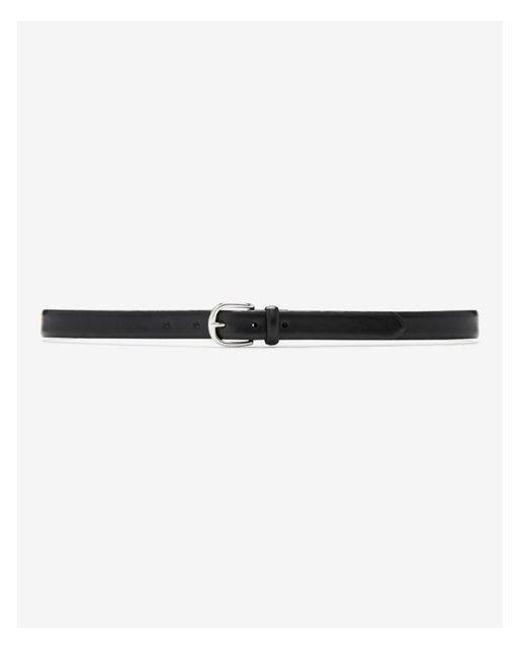 Express - Black Round Buckle Belt - Lyst