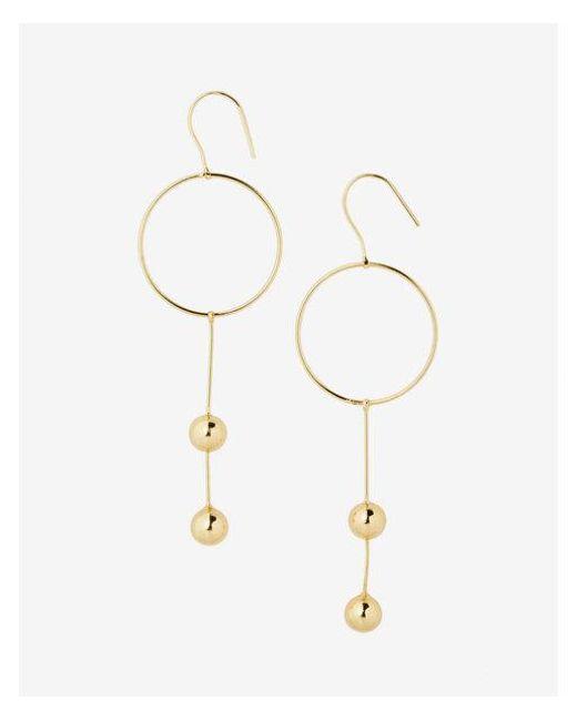 Express - Metallic Circle Ball Drop Earrings - Lyst