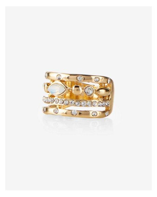 Express | Metallic Mixed Shape Open Ring | Lyst