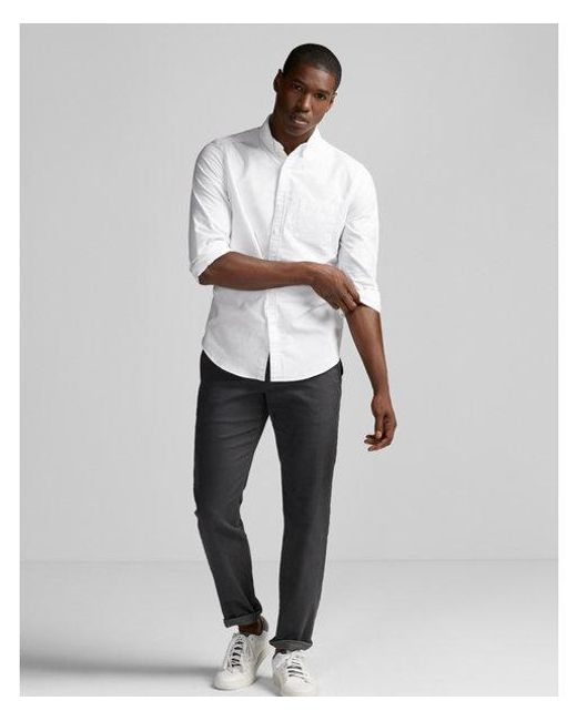 Express - White Big & Tall Slim Soft Wash Oxford Shirt for Men - Lyst