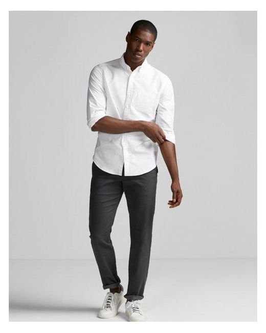 Express - White Slim Soft Wash Oxford Shirt for Men - Lyst