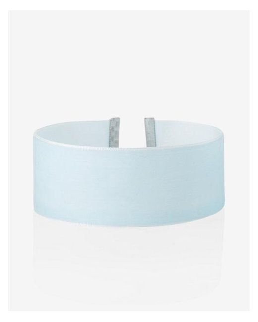 Express - Blue Wide Velvet Choker Necklace - Lyst