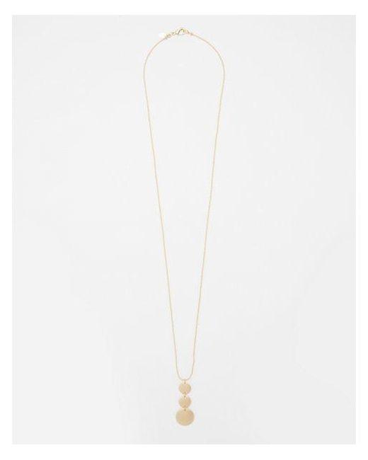 Express - Metallic Linear Disc Pendant Necklace - Lyst