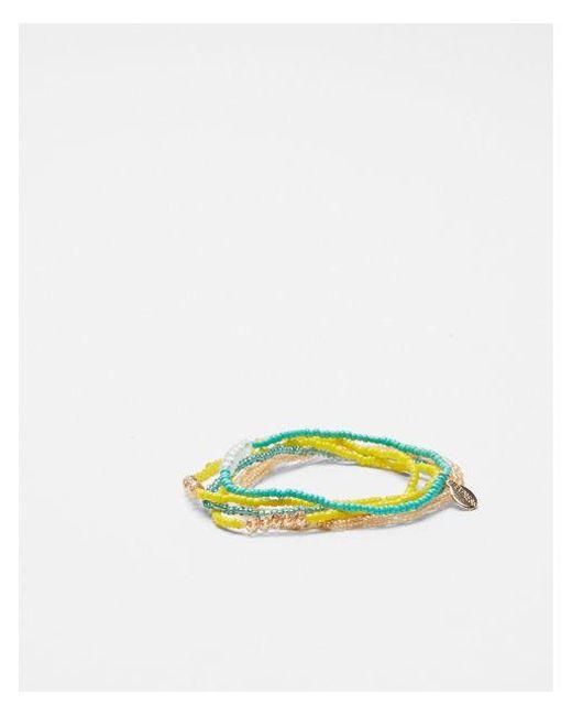 Express - Blue Stretch Beaded Bracelet Set - Lyst