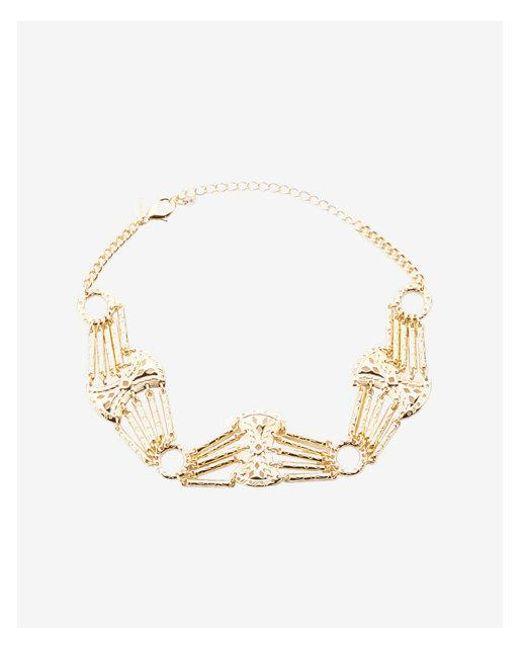 Express - Metallic Western Cut-out Choker Necklace - Lyst