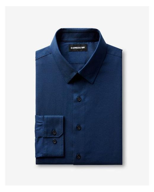 b5f3e271aaf Lyst - Express Modern Fit Easy Care 1mx Shirt in Blue for Men