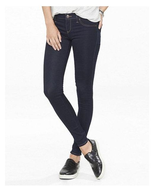 Express - Blue Low Rise Stretch+ Jeggings, Women's Size:16 Short - Lyst