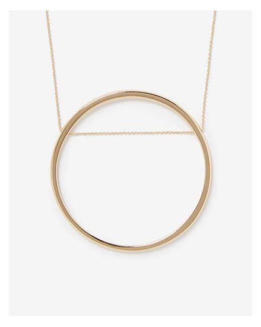 Express - Metallic Open Circle Necklace - Lyst