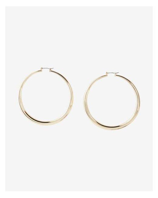 Express | Metallic Large Tube Hoop Earrings | Lyst