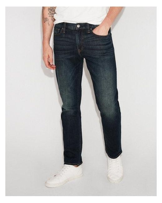 Express - Blue Classic Slim Dark Wash Stretch Jeans, Men's Size:w28 L28 for Men - Lyst