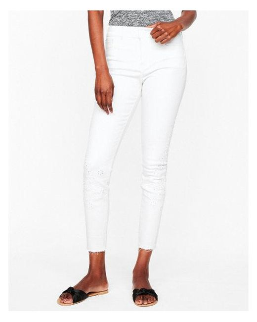 Express - White Mid Rise - Lyst