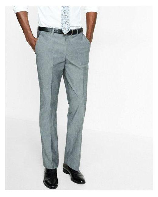 916ea4b7ff92 Express - Gray Men s Classic Chambray Stretch Cotton Dress Pants for Men -  Lyst