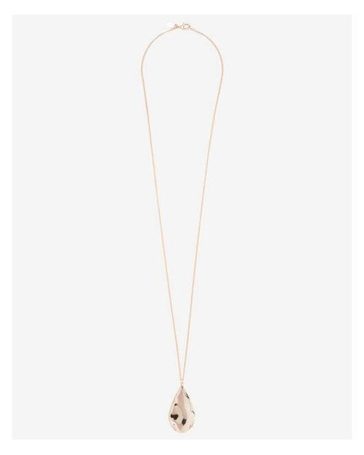 Express - Metallic Textured Teardrop Pendant Necklace - Lyst