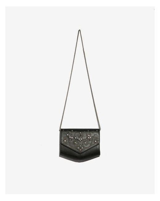 Express - Black Studded Crossbody Bag - Lyst