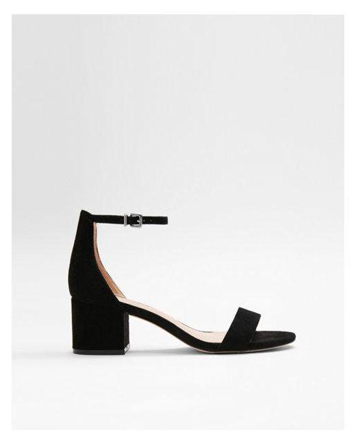 Express - Black Ock Heel Sandals - Lyst