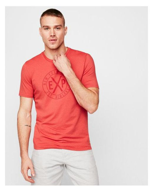 Express - Red Big & Tall Solid Exp Graphic Tee for Men - Lyst