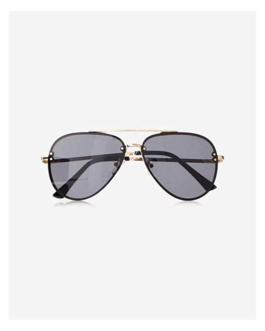 1df1b5edf4 Lyst - Express Rimless Aviator Sunglasses in Black for Men