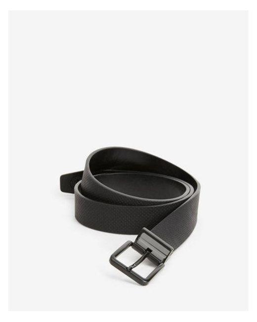 Express - Black Reversible Matte Prong Buckle Belt for Men - Lyst