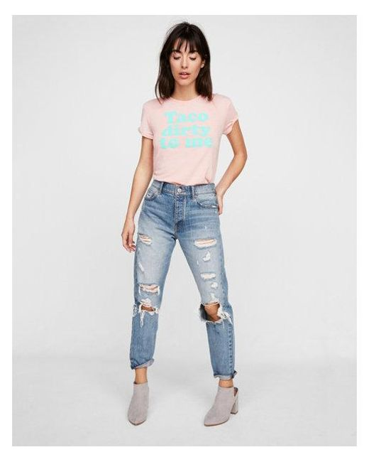 Express - Blue One Eleven Taco Dirty To Me Graphic Tee - Lyst