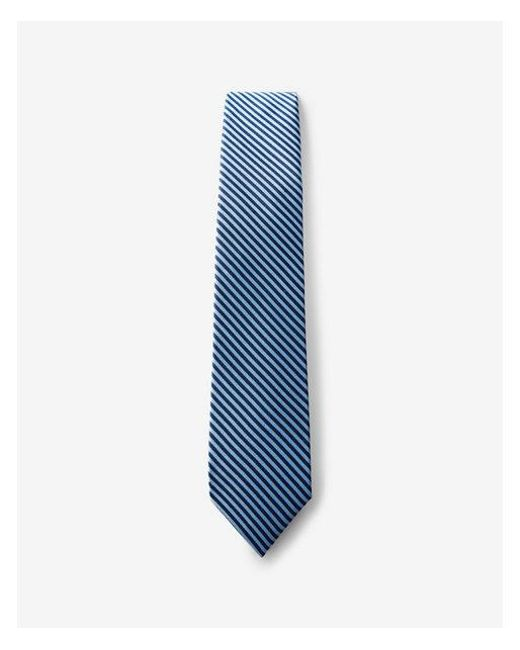 Express - Blue Striped Narrow Silk Tie for Men - Lyst